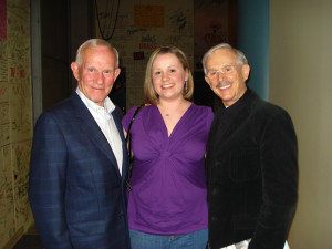 Ugh Arts Marketing Blogger Kathryn Denton with the Smothers Brothers